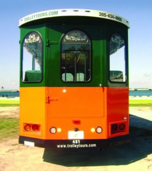 trolley tours vehicle